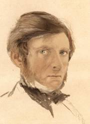 John Ruskin: self-portrait