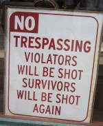 Welcome, trespassers!