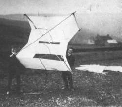 Wittgenstein flying a kite on Chunal; the Grouse Inn probably in the background